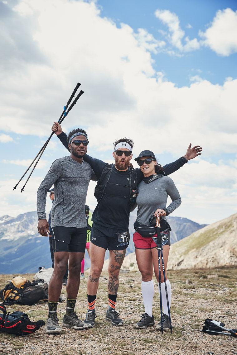 Raymond Hailes, Kyle Dietz & Kelly Cruse - TransRockies Run